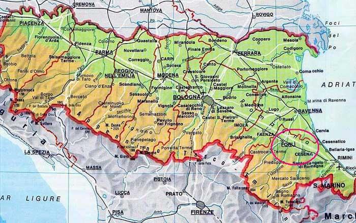 Cartina Emilia Romagna E Lombardia.Emilia Romagna