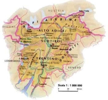 Fiumi Del Trentino Alto Adige Cartina.Trentino Alto Adige